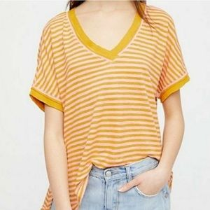 We the Free deconstructed oversized Stripes Shirt